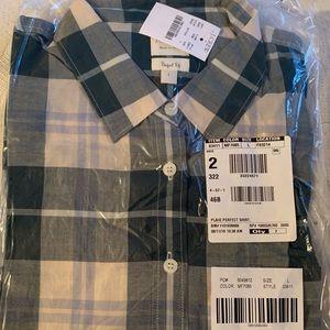 J. Crew Plaid Perfect Shirt